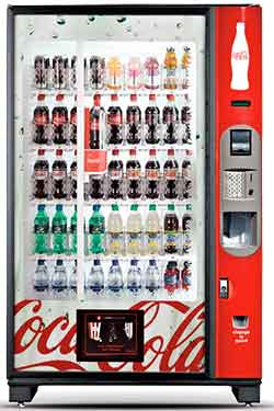 Glassfront Coke machine
