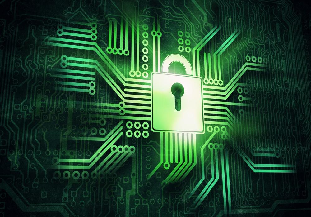 Conceptual digital image of lock on circuit background.jpeg