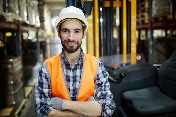 happy warehouse employee