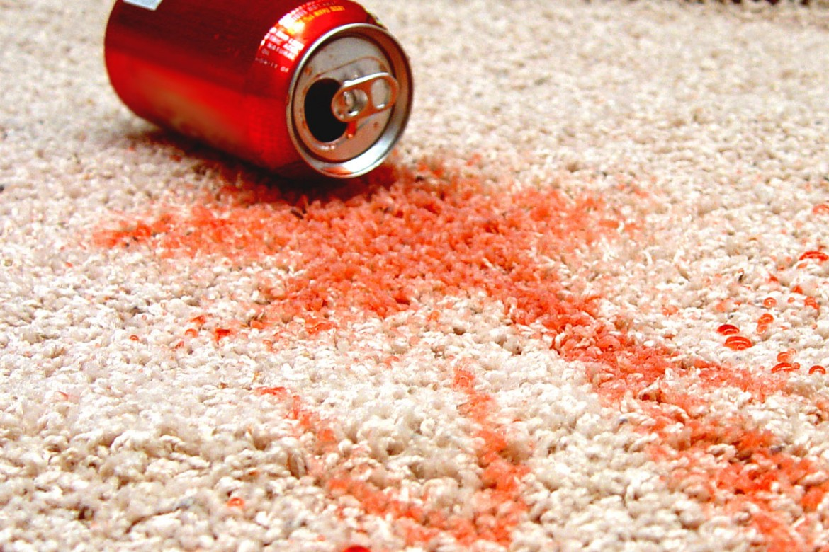 Removing soda stains from carpets